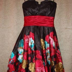 B. Darlin Strapless Floral Dress